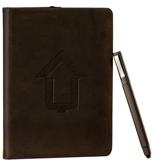 Charge Up leather bound notebook journal pen victor pisano